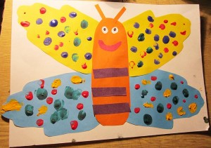 поделка бабочка из бумаги